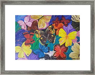 Butterflies 2 Framed Print by Rita Fetisov