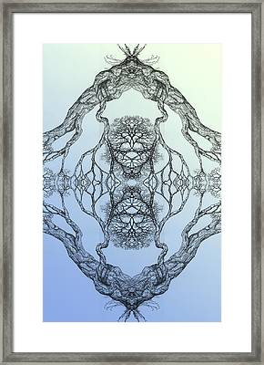 Butterflies Tree 16 Hybrid 3 Framed Print