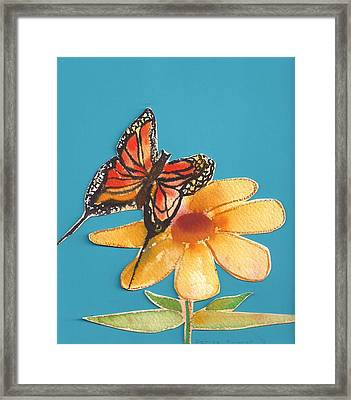 Framed Print featuring the painting Butterflower by Denise Fulmer