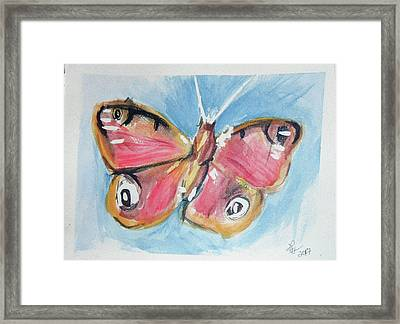 Butterfly 3 Framed Print by Loretta Nash
