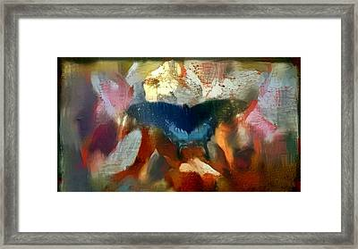 Butterfly Alla Prima Loose Sketch Painting Flowers In The Morning Framed Print by MendyZ