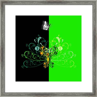 Butterfly And Ornament Framed Print by Svetlana Sewell