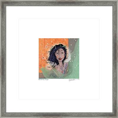 Butterfly Angel 2 Framed Print