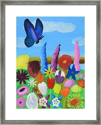 Butterfly Framed Print by Artists With Autism Inc