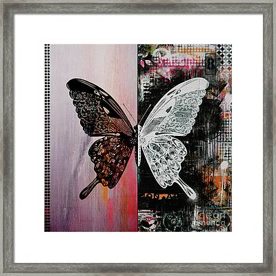 Butterfly Art 45h Framed Print by Gull G