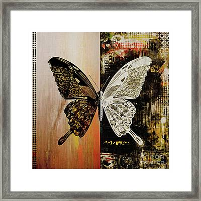 Butterfly Art 78y Framed Print by Gull G