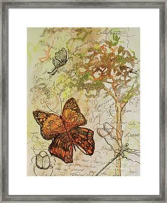 Butterfly Art Journal Framed Print