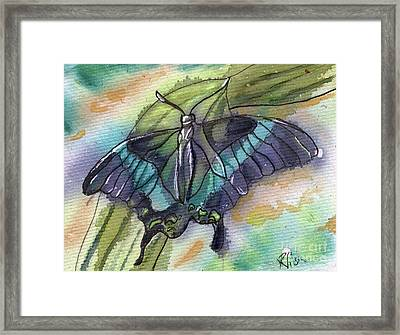 Butterfly Bamboo Black Swallowtail Framed Print by D Renee Wilson