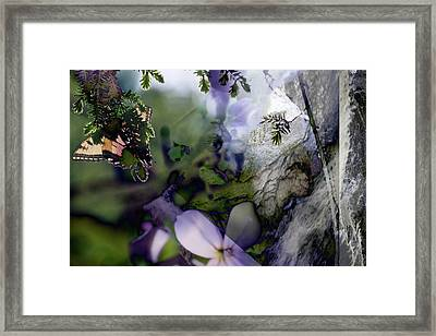 Butterfly Basket Framed Print