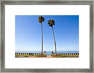 Butterfly Beach, Santa Barbara, California Framed Print