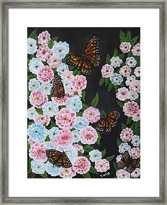 Butterfly Beauty Framed Print by Teresa Wing