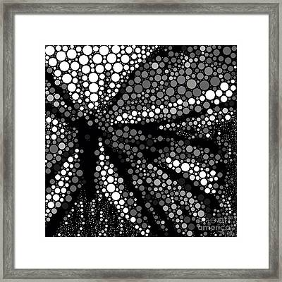 Butterfly Black And White Abstract Framed Print by Saundra Myles