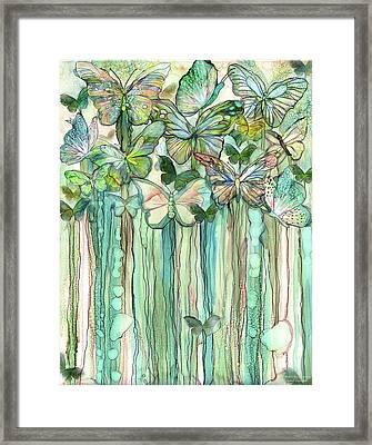 Butterfly Bloomies 1 - Peach Framed Print