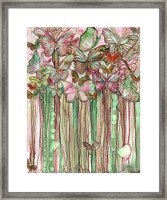 Butterfly Bloomies 1 - Pink Framed Print
