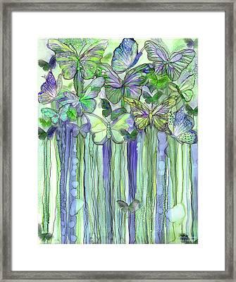 Butterfly Bloomies 1 - Purple Framed Print