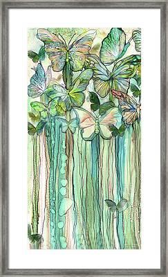 Butterfly Bloomies 2 - Peach Framed Print