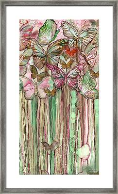 Butterfly Bloomies 2 - Pink Framed Print