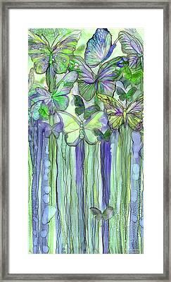 Butterfly Bloomies 2 - Purple Framed Print