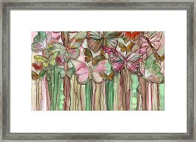 Butterfly Bloomies 3 - Pink Framed Print