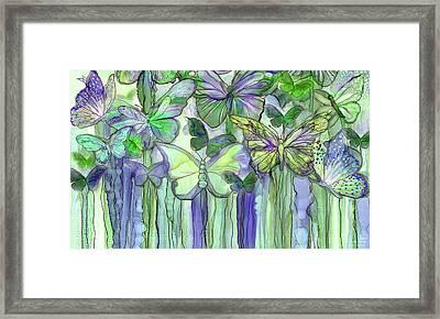Butterfly Bloomies 3 - Purple Framed Print