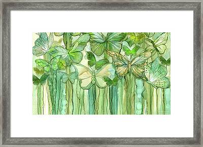 Butterfly Bloomies 3 - Yellow Framed Print