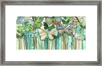 Butterfly Bloomies 4 - Peach Framed Print