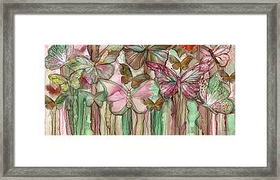 Butterfly Bloomies 4 - Pink Framed Print