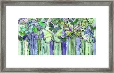 Butterfly Bloomies 4 - Purple Framed Print