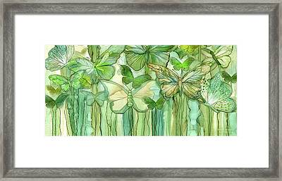Butterfly Bloomies 4 - Yellow Framed Print