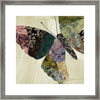 Butterfly Brocade I Framed Print