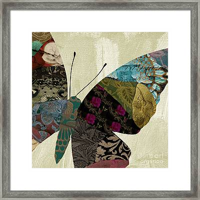 Butterfly Brocade II Framed Print