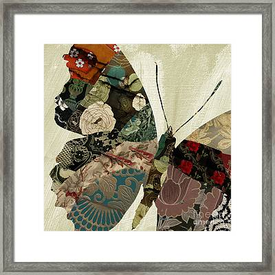 Butterfly Brocade IIi Framed Print by Mindy Sommers