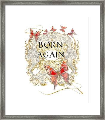 Butterfly Butterflies Swirling Born Again Christian Symbol Framed Print by Audrey Jeanne Roberts