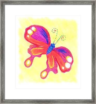 Butterfly Framed Print by Chandelle Hazen