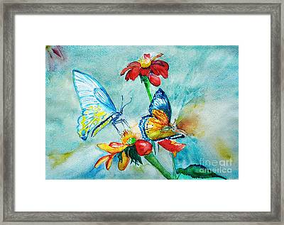 Butterfly Dance Framed Print by Jasna Dragun