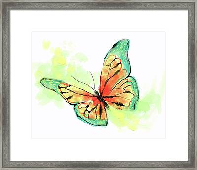 Butterfly Digital Watercolor Painting Framed Print