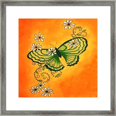 Butterfly Doodle Framed Print by Karen R Scoville