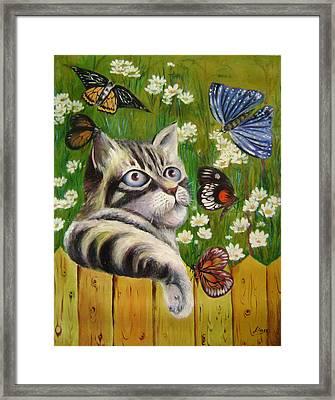 Butterfly Dream Framed Print by Lian Zhen
