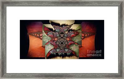 Butterfly Effect 2 / Vintage Tones  Framed Print by Elizabeth McTaggart