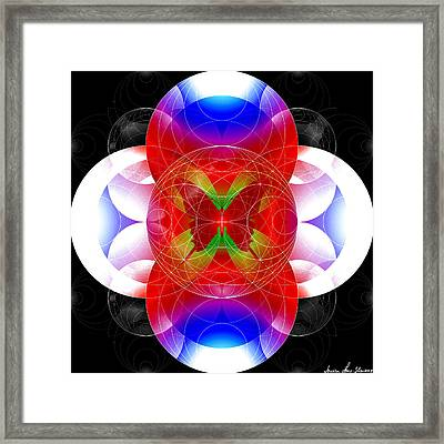 Framed Print featuring the digital art Butterfly Effect by Iowan Stone-Flowers