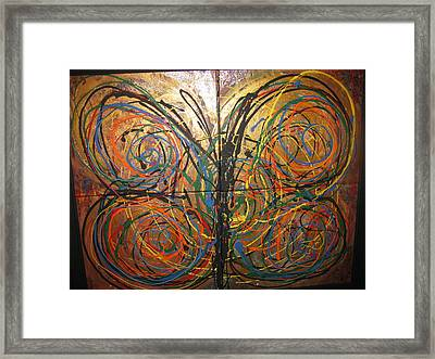 Butterfly Framed Print by Elena Abercrombie