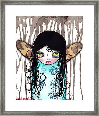 Butterfly Fairy Framed Print by  Abril Andrade Griffith