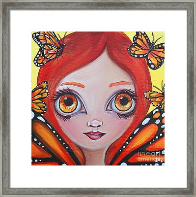 Butterfly Fairy Framed Print by Jaz Higgins
