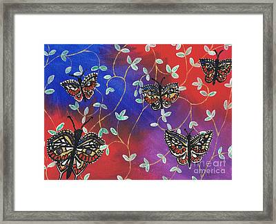 Butterfly Family Tree Framed Print
