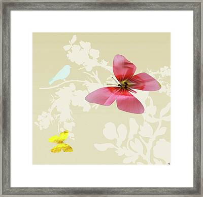 Butterfly Floral  6 Framed Print