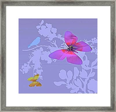 Butterfly Floral  8 Framed Print