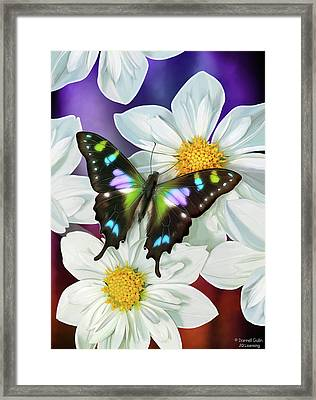 Butterfly Flowers Framed Print