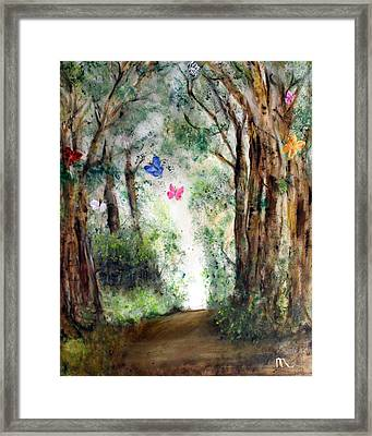 Butterfly Forest Framed Print by Michela Akers
