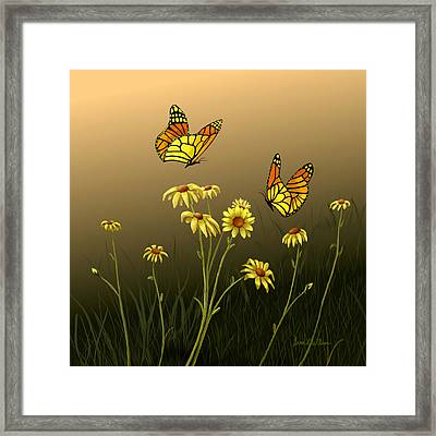 Framed Print featuring the painting Butterfly Haven by Sena Wilson