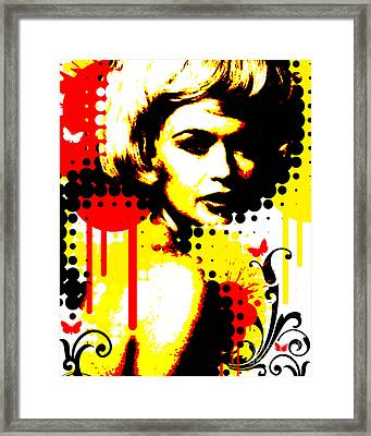 Butterfly Headcase Framed Print by Chris Andruskiewicz